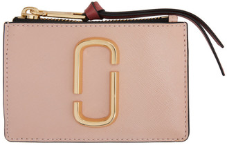 Marc Jacobs Pink The Snapshot Top Zip Card Holder