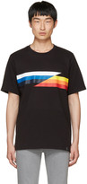 Rag & Bone Black Glitch Stripe T-shirt