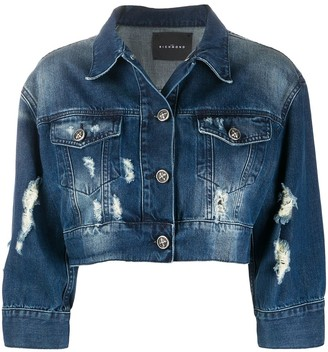John Richmond cropped denim jacket