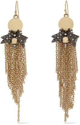 Alexis Bittar Gold And Gunmetal-tone Crystal Earrings