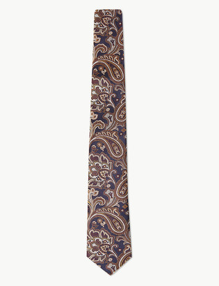 Marks and Spencer Paisley Pure Silk Tie