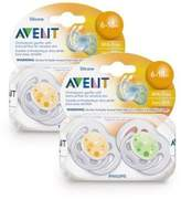 Philips Avent Contemporary Freeflow Pacifiers (6-18 months)- 4 pk by Avent