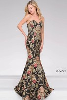 Jovani Embroidered Mermaid Prom Dress 48395