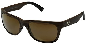 Maui Jim Kahi (Matte Brown Woodgrain/HCL Bronze) Fashion Sunglasses