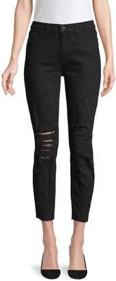 L'Agence El Matador French Slim Leopard Crop Jeans