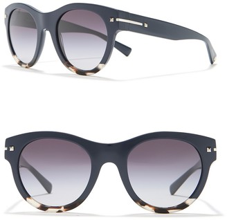 Valentino Modified Round 51mm Sunglasses