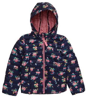 Joules Kinnaird Floral Print Packable Hooded Jacket