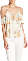 Willow & Clay Cold Shoulder Ruffle Blouse