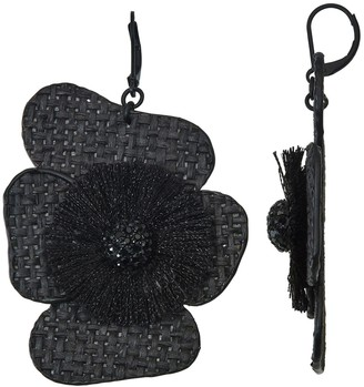 Vera Wang Simply Vera Woven Flower Drop Earrings