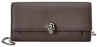 Alexander McQueen Skull Leather Wallet On Chain