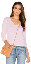 Splendid Vintage Whisper Long Sleeve V Neck Tee