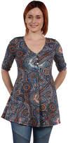24/7 Comfort Apparel 24Seven Comfort Apparel Stefanie Henley Style Tunic Top