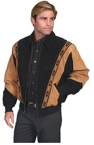 Scully Men's Two-Toned Boar Suede Rodeo Jacket 62