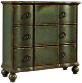 Pulaski Ashford Dark Green Ring Pull 3-Drawer Hall Dresser