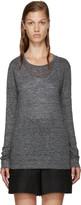 Etoile Isabel Marant Grey Linen Karon T-shirt