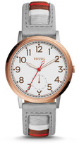 Fossil Everyday Muse Multifunction Striped Leather Watch
