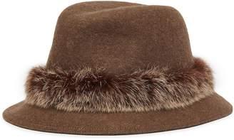 Eric Javits 'Bunny' rabbit fur trim wool felt hat