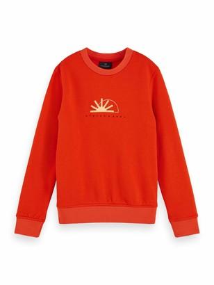 Scotch & Soda Boy's Crew Neck Sweat with Seasonal Artworks Sweatshirt
