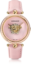 Versace Palazzo Empire Pink and PVD Plated Gold Women's Watch w/3D Medusa