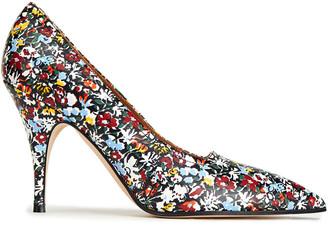 Victoria Beckham Dorothy 100 Floral-print Leather Pumps