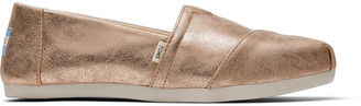 Toms Champagne Shimmer Synthetic Women's Classics ft.Ortholite