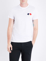 Moncler Circle-embroidered cotton-jersey T-shirt