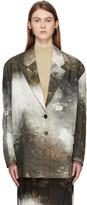 Acne Studios Multicolor Landscape Painting Suit Blazer