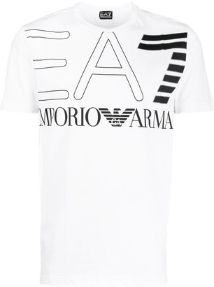 Emporio Armani Ea7 large printed loo T-shirt