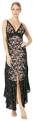 Free People Paradise Printed Maxi (Black) Women's Dress