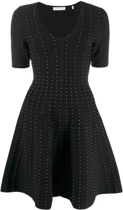 Sandro Paris studded v-neck dress