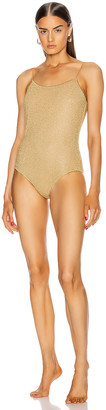 Oseree Maillot One Piece in Gold | FWRD