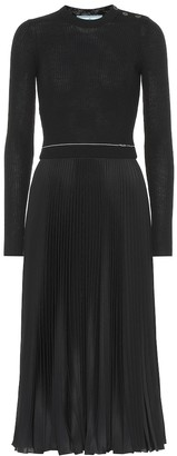 Prada Wool and silk-blend midi dress