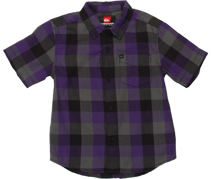 Quiksilver Bison Hunter S/S Woven (Toddler/Little Kids) (Grape Ape) - Apparel