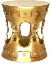 Jonathan Adler Brass Ulu Convex Side Table