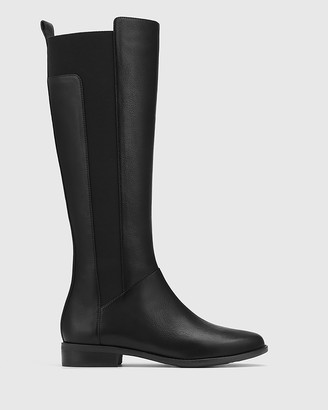 Wittner - Women's Black Boots - Cueva Leather Round Toe Long Boots - Size One Size, 35 at The Iconic