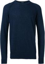 Roberto Collina ribbed trim sweatshirt - men - Cotton/Polyamide - 52