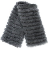 Agnona fur detailed mini scarf - women - Mink Fur/Cashmere/Wool - One Size