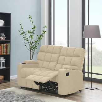 Copper Grove Bielefeld Khaki Microfiber 2-seat Storage Recliner Loveseat - 2 Seat