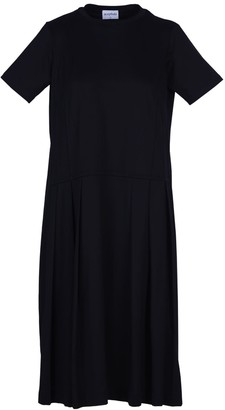 Acephala Long Black Jersey Dress
