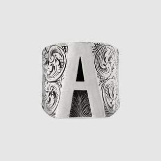 "Gucci A"" letter ring in silver"