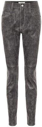 Etoile Isabel Marant Taro high-rise skinny leather pants