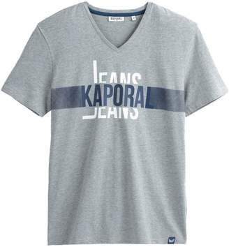 Kaporal Delmo V-Neck Printed Front T-Shirt