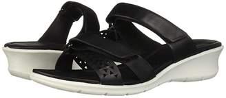 Ecco Felicia Slide Sandal (Black Cow Nubuck) Women's Sandals