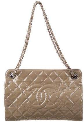 Chanel Patent Quilted Timeless CC Tote