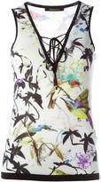 Roberto Cavalli bird print tank top - women - Silk - 44