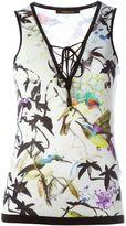 Roberto Cavalli bird print tank top