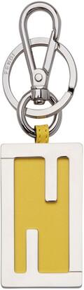Fendi FF logo plaque key ring
