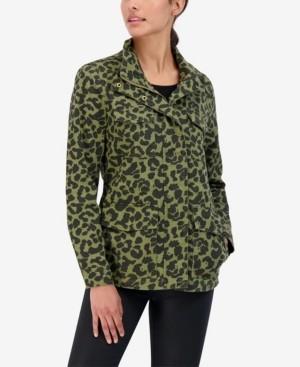Sebby Junior's Leopard Cotton Utility Jacket