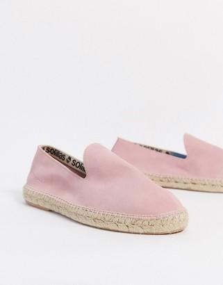 Solillas suede espadrille sandals in pink