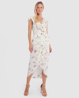 Forcast Laya Floral V-Neck Maxi Dress
